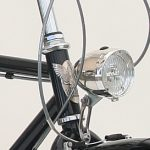 The front light is standard on all Peace Bicycles