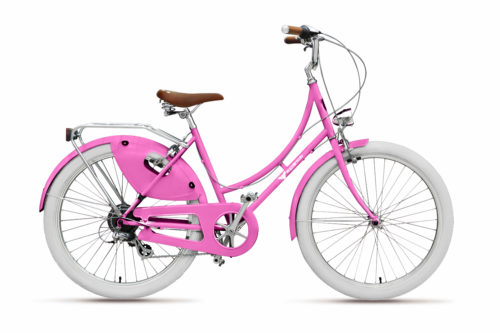 Pink-beach-cruiser-bicycle