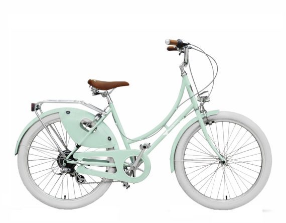 Lightweight commuter bike with coat guard