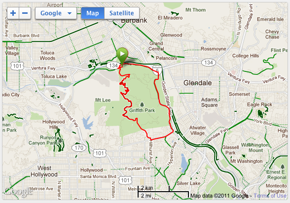 Griffith Park Bike Loop 1
