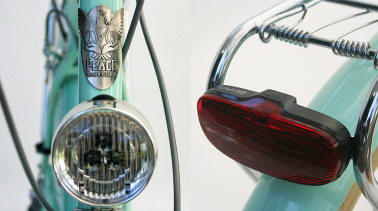 vintage front and rear lights