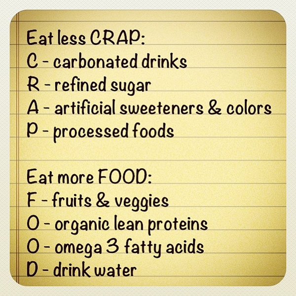 crap food tips to live a healthy lifestyle