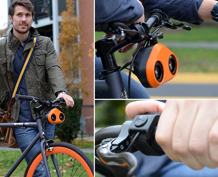 loud mini car horn on a bike
