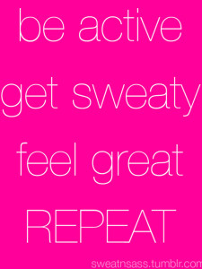 sweat to live a healthy lifestyle