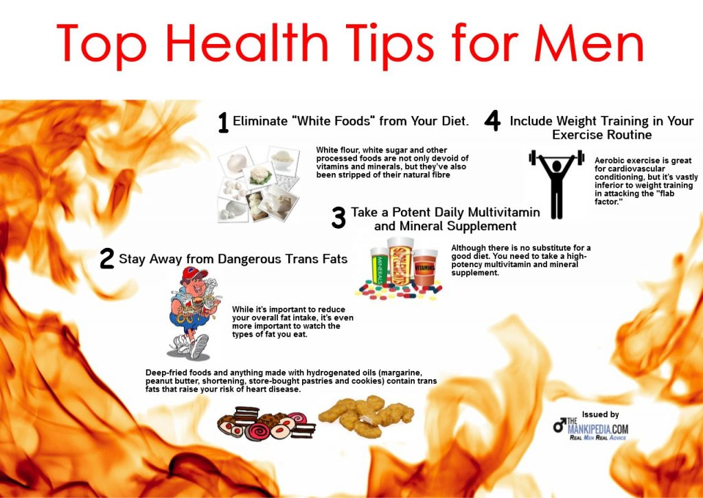 top healthy lifestyle tips for men