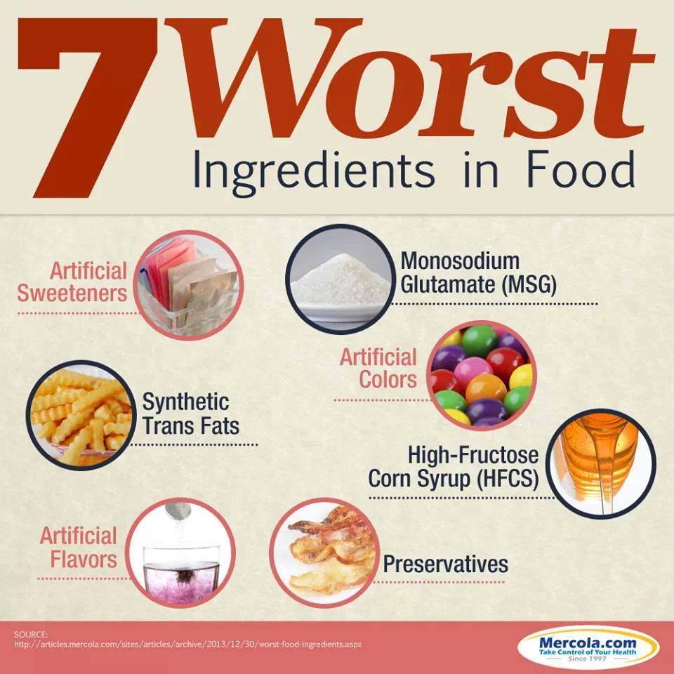 worst ingredients tips to live a healthy lifestyle