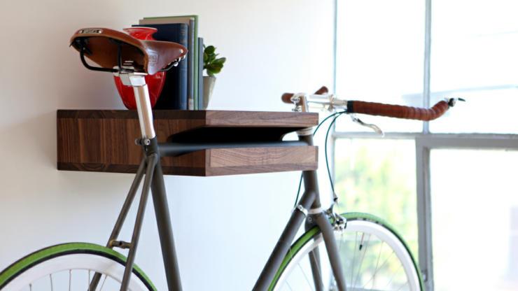 cool bike accessories bike shelf