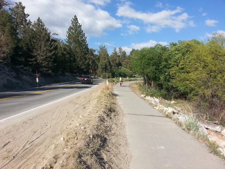 big bear lake bike trail trip