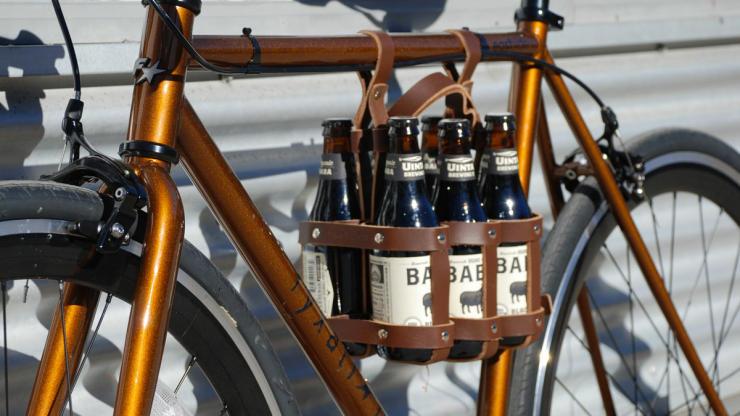 cool bike accessories bike beer bag