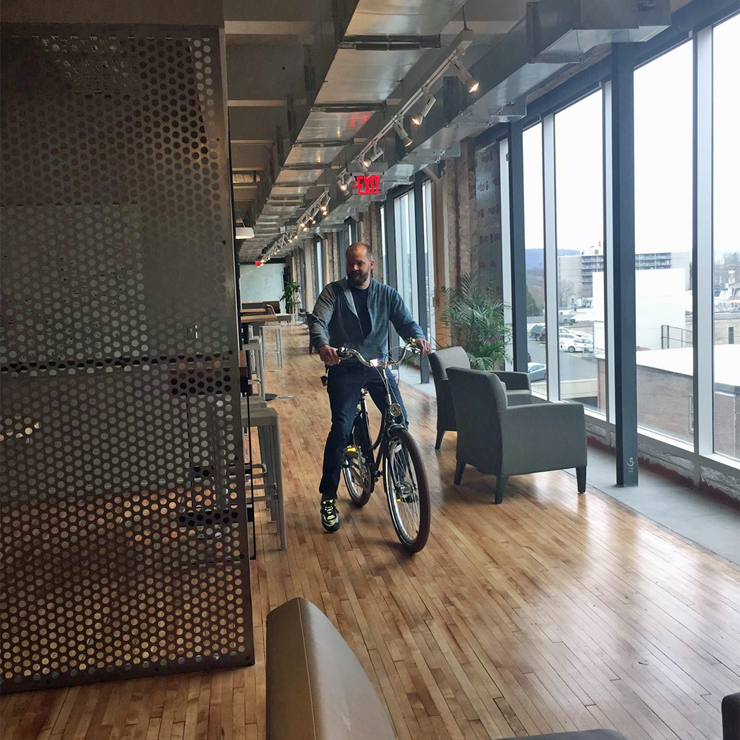 how to bike to the office