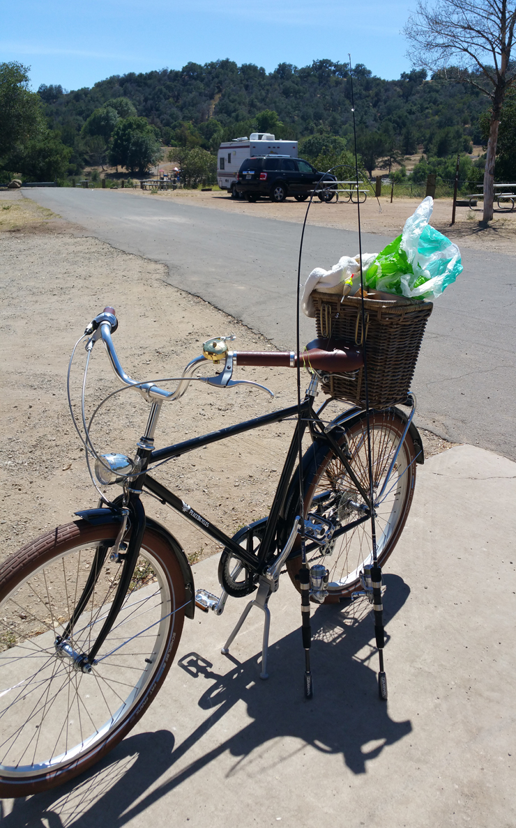 lake casitas ojai black bicycle