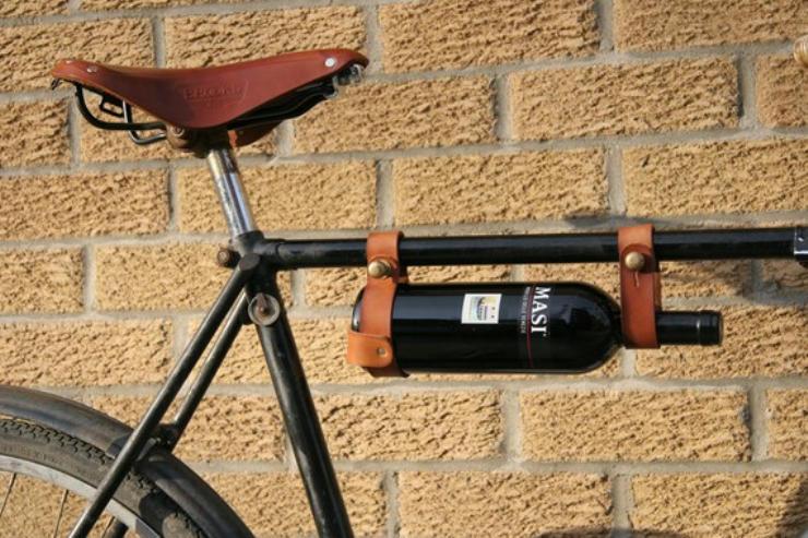 cool bike accessories wine rack