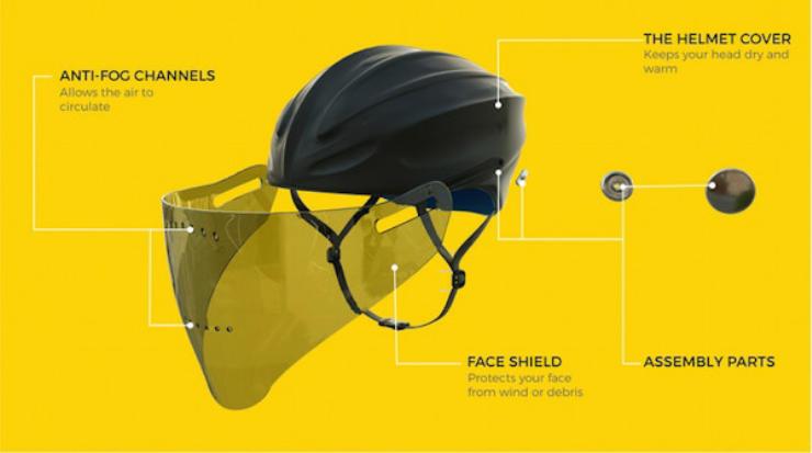 cool bike accessories visor