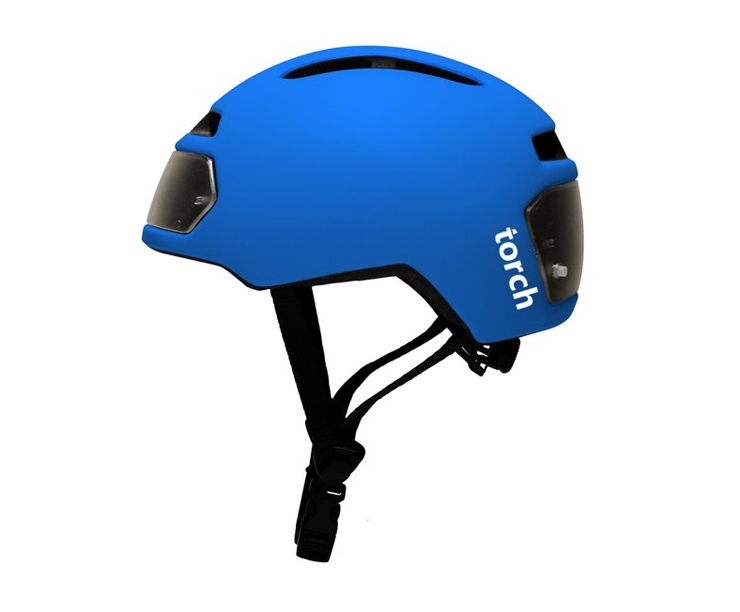 Torch bicycle helmet with integrated lights