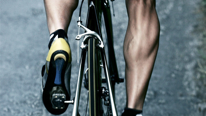 bicycling benefits include stronger calves