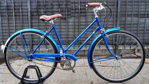 an older bike which means a benefit of bicycling is that they do not go out of style