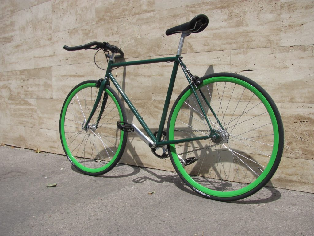 fixie bike by wall