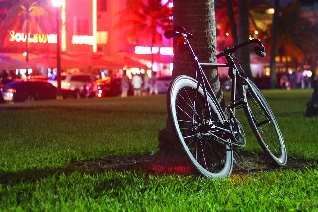 fixie bike at night