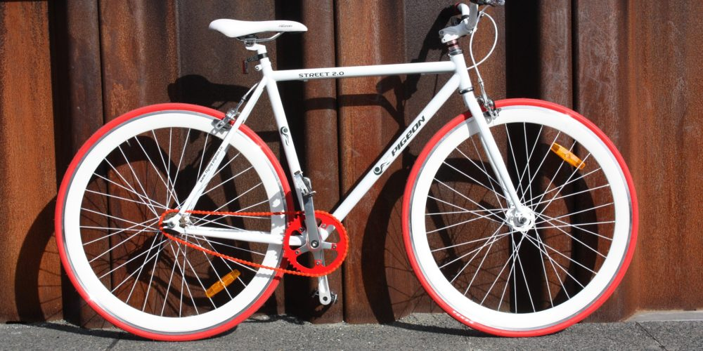 fixie bike by wall