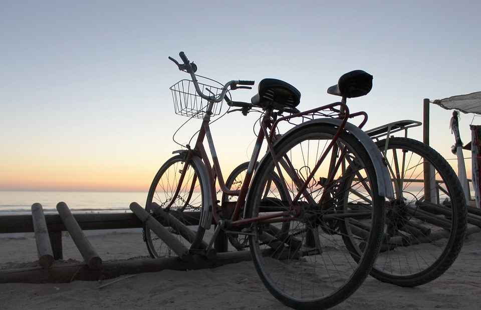 beachcomber bike on beach