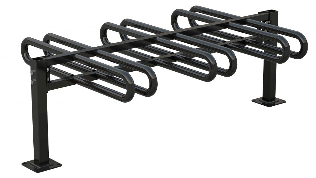 black bike rack ground