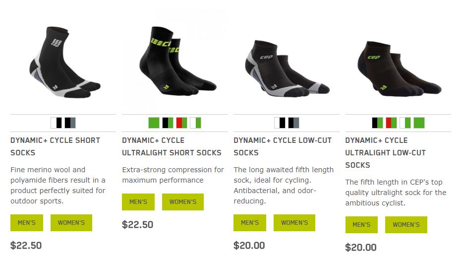 compression biking socks