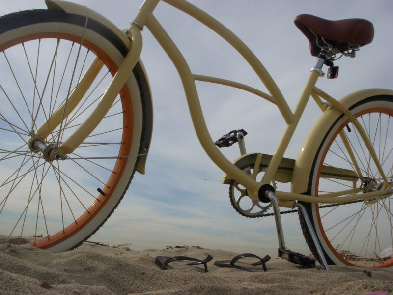 Cruiser bike in the sand