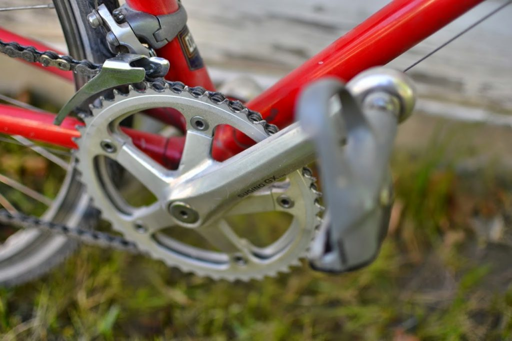 half step gears on red bike