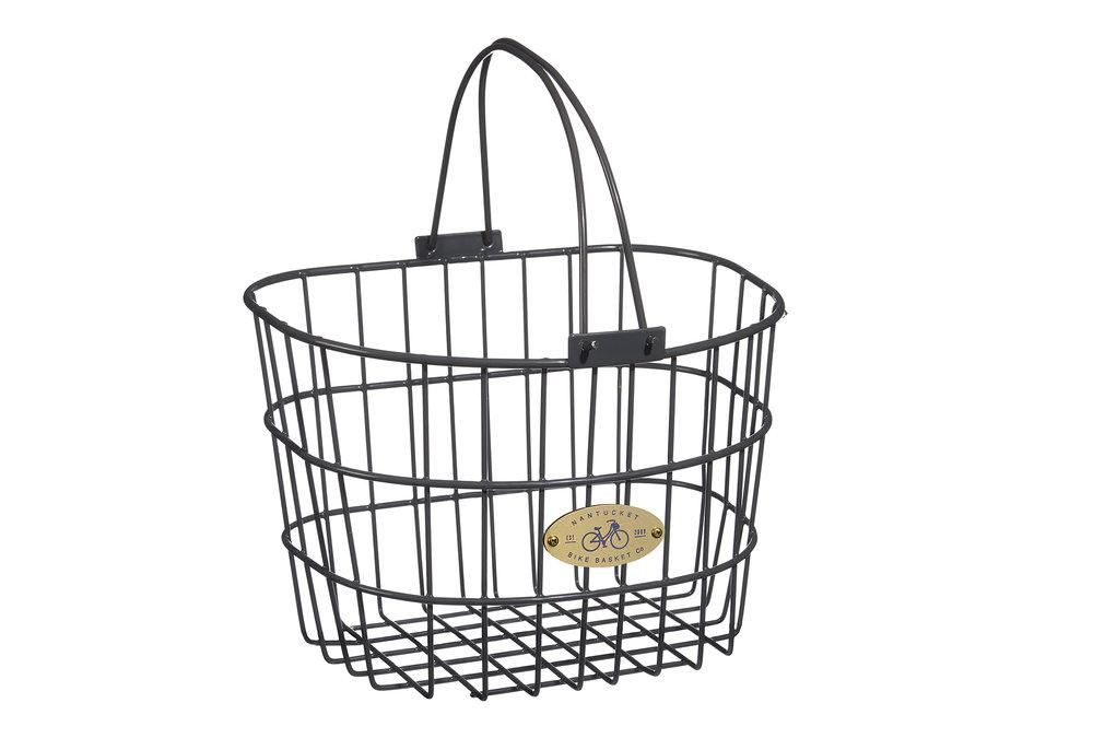 nantucket metal frame bike basket for cruiser bikes