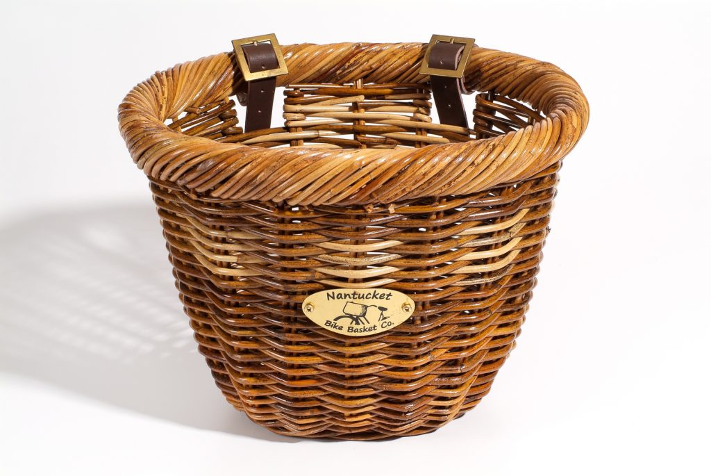 nantucket wicker bike basket