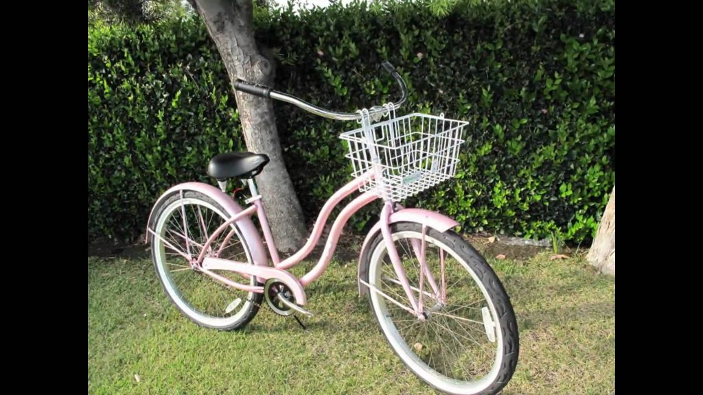 pink cruiser cruiser with handlebars