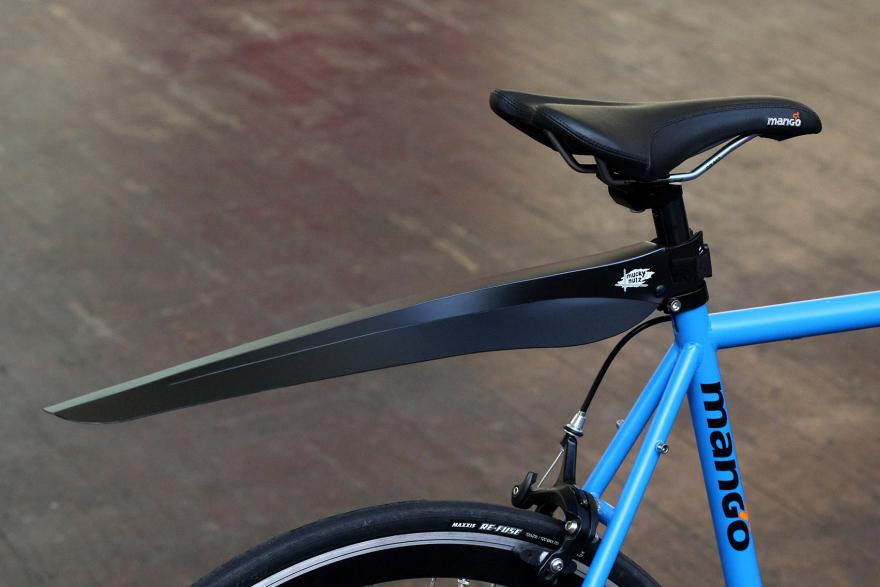 seatpost mounted fender blue bike