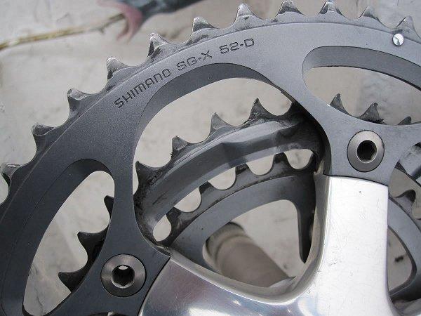 shimano front bike cogs