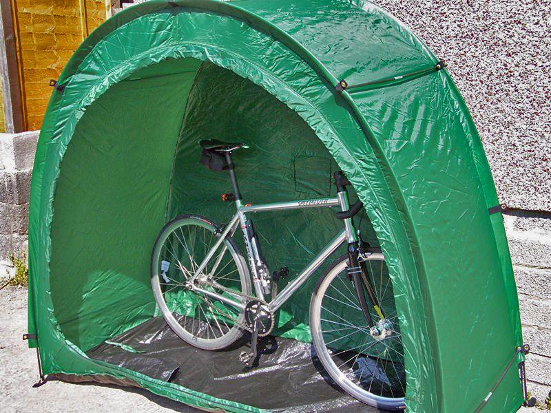 tidy tent bike storage