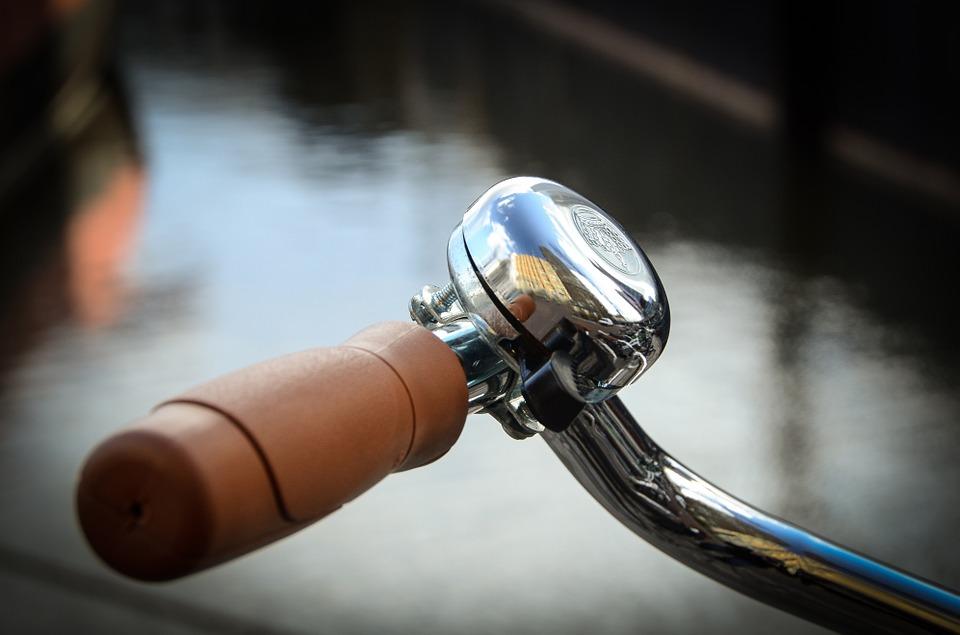 silver bike bell