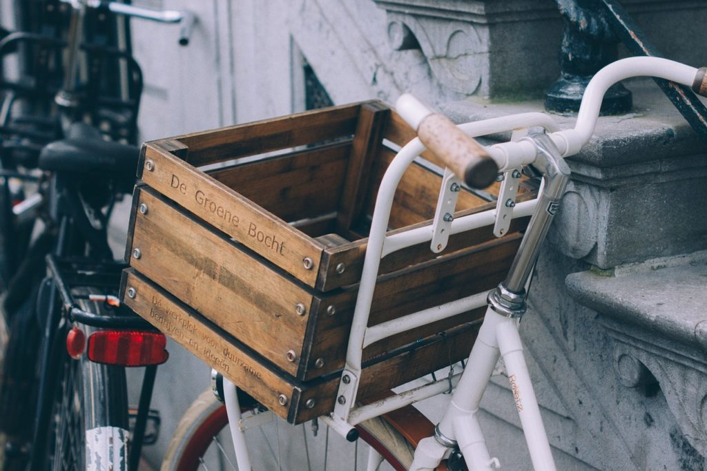 retro bicycles basket