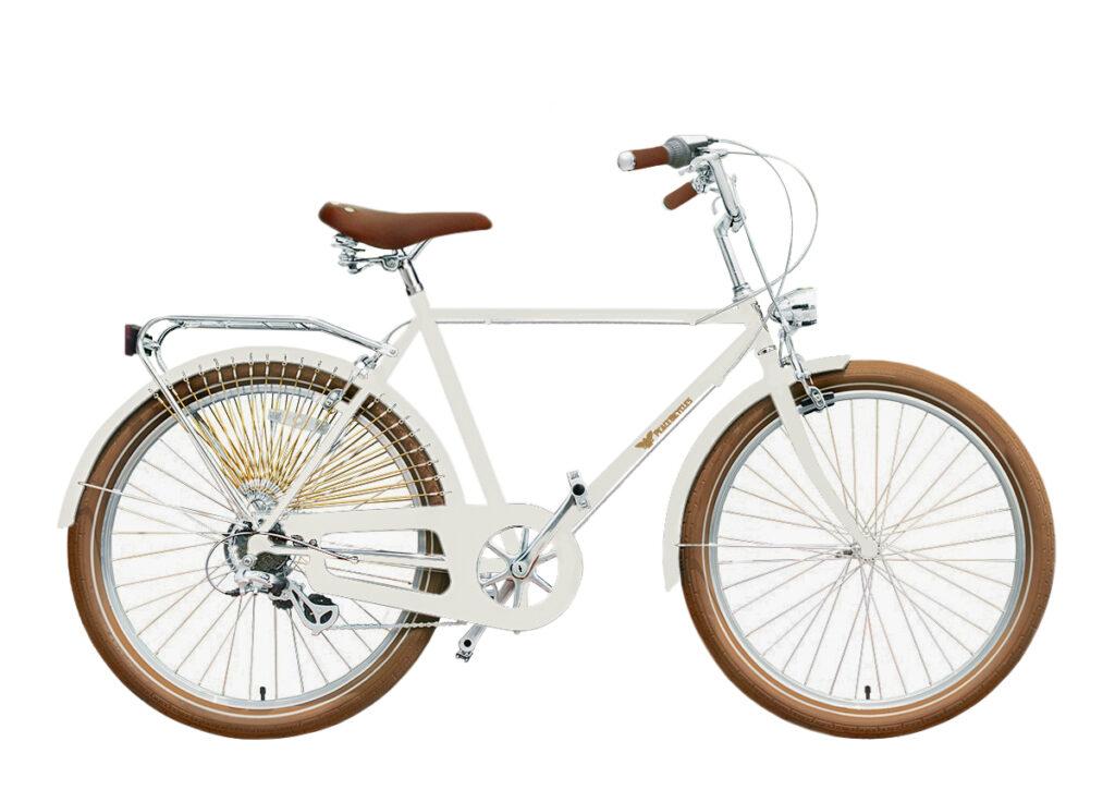 cream lightweight commuter bike