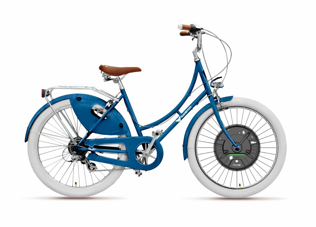 electric wheel bike night blue