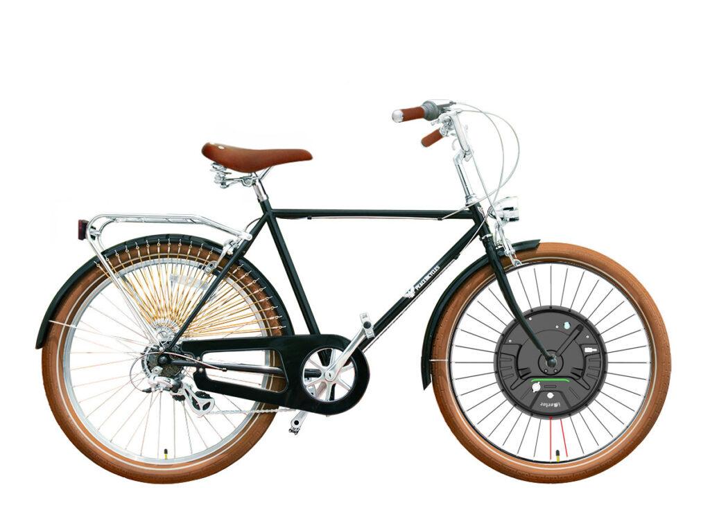 electric wheel bike black